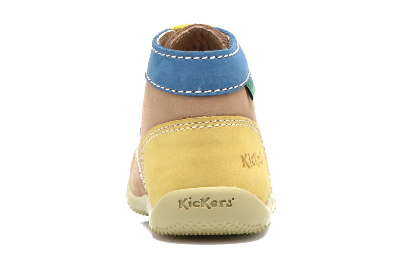 Bottines et boots Kickers Bonbon Beige vue droite