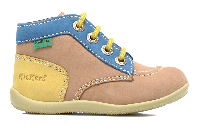 Boots en enkellaarsjes Kickers Bonbon Beige achterkant