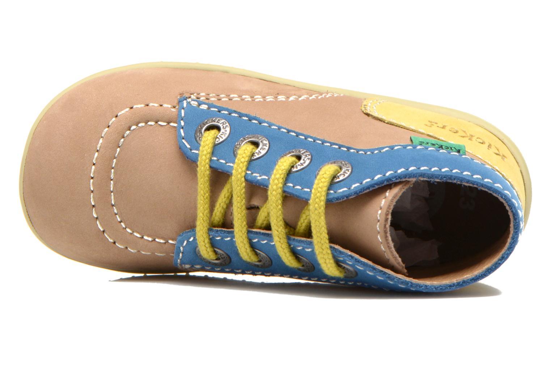 Boots en enkellaarsjes Kickers Bonbon Beige links