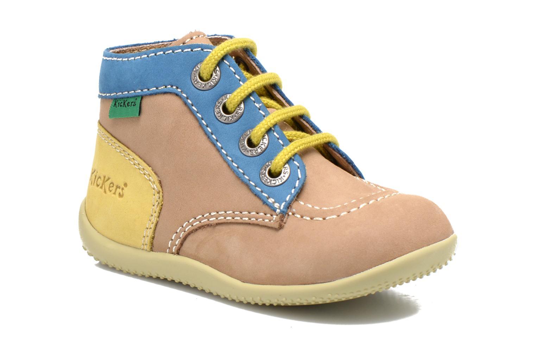Bottines et boots Kickers Bonbon Beige vue détail/paire