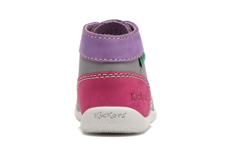 Boots en enkellaarsjes Kickers Bonbon Grijs rechts