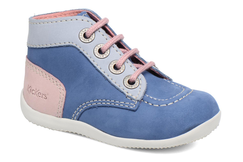 Ankelstøvler Kickers Bonbon Blå detaljeret billede af skoene