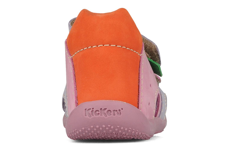 Sandales et nu-pieds Kickers Boan Violet vue droite