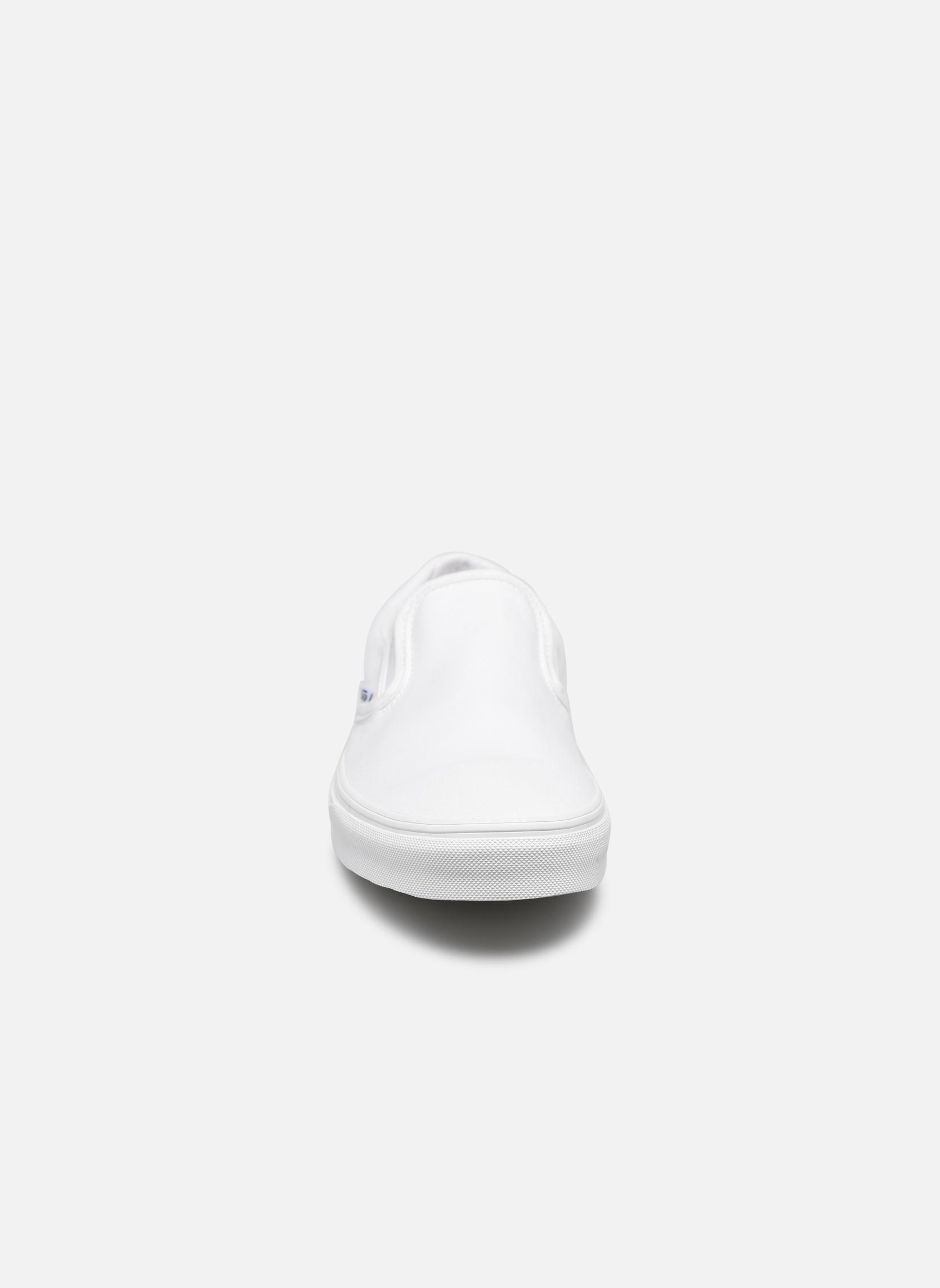 Baskets Vans Classic Slip-on Blanc vue portées chaussures