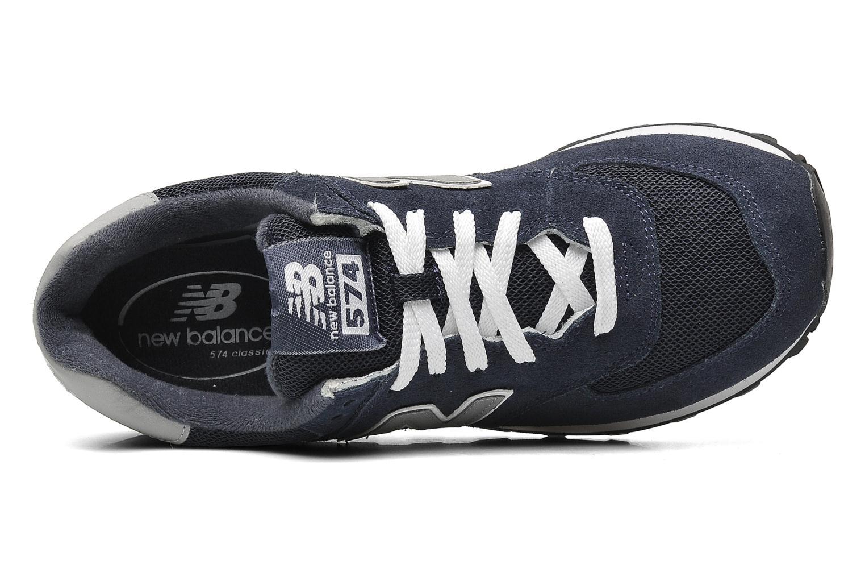 Sneaker New Balance M574 blau ansicht von links