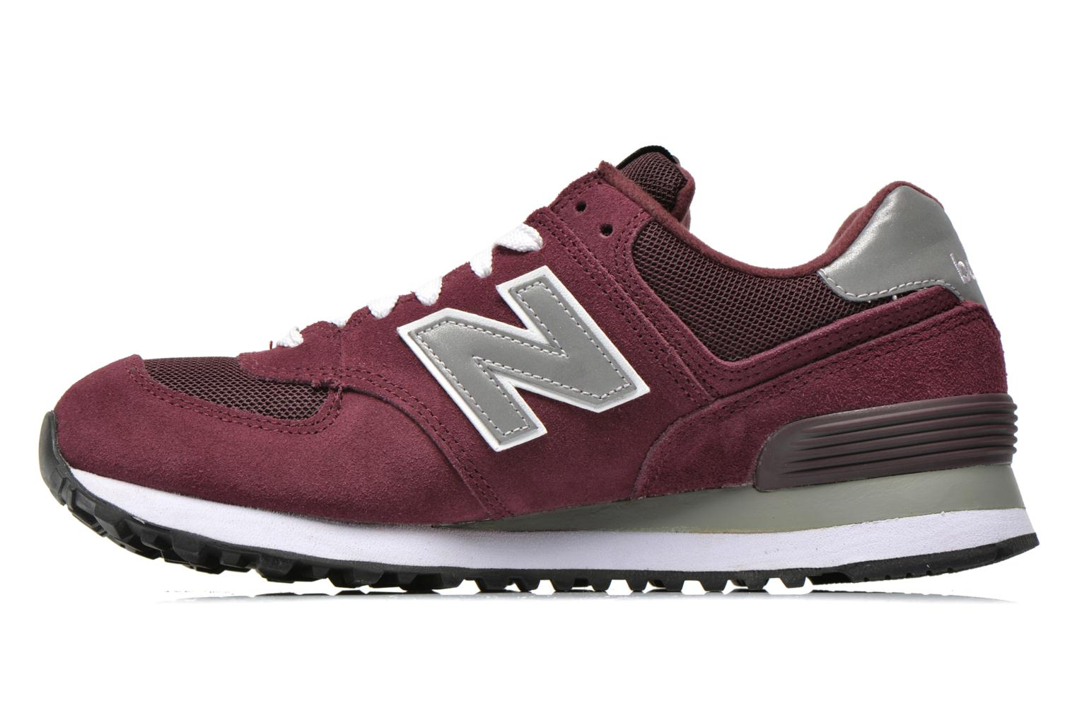 Baskets New Balance M574 Bordeaux vue face
