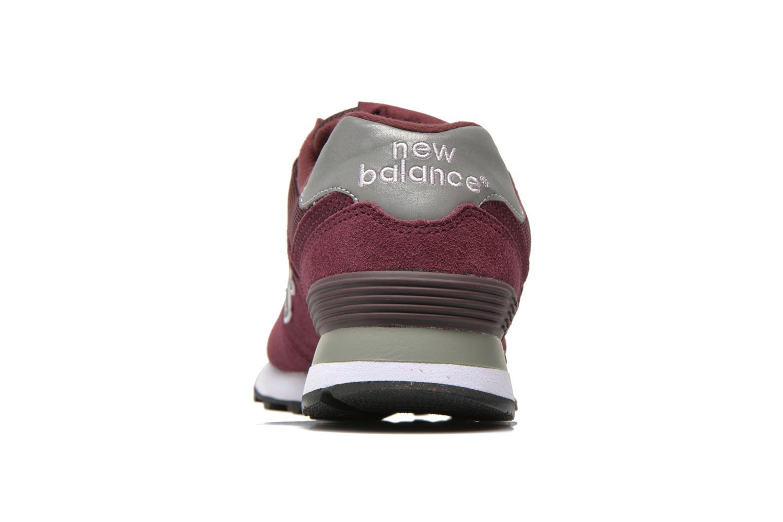 Baskets New Balance M574 Bordeaux vue droite