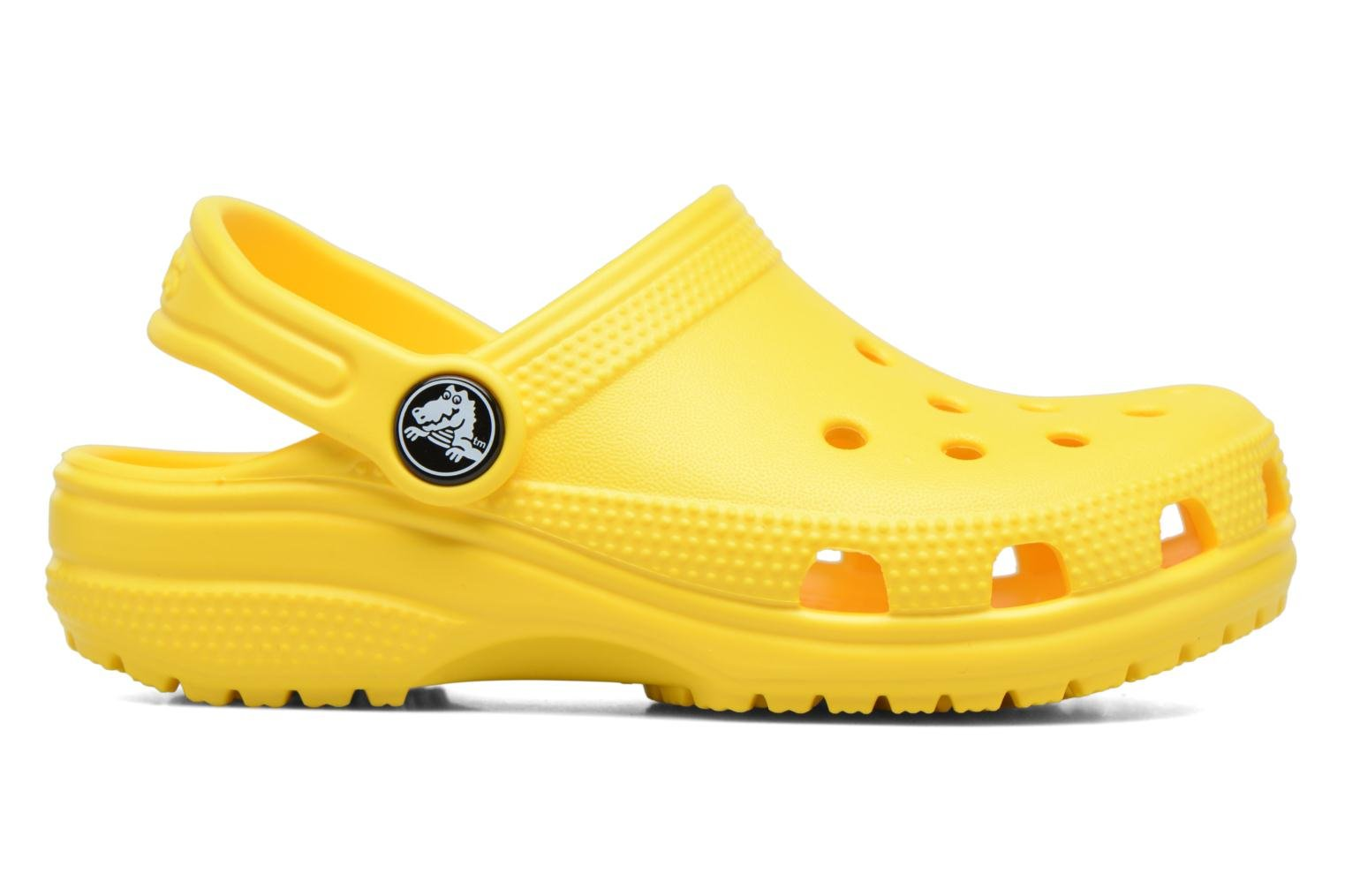 Sandals Crocs Kids Cayman Yellow back view