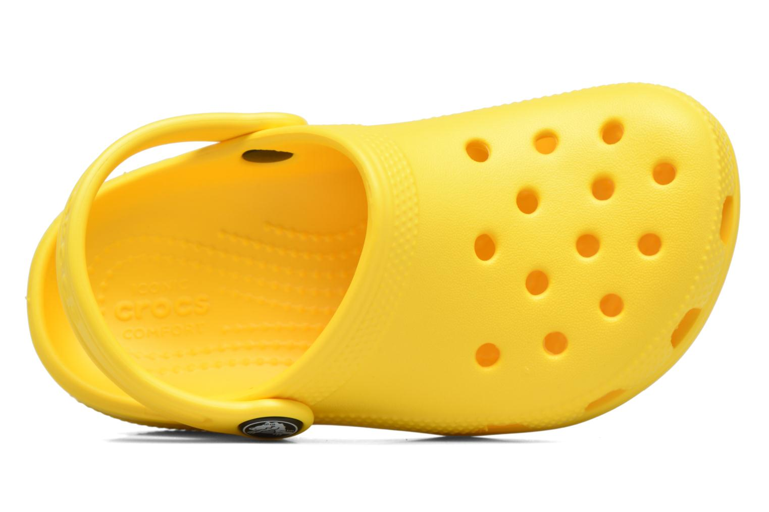 Sandals Crocs Kids Cayman Yellow view from the left