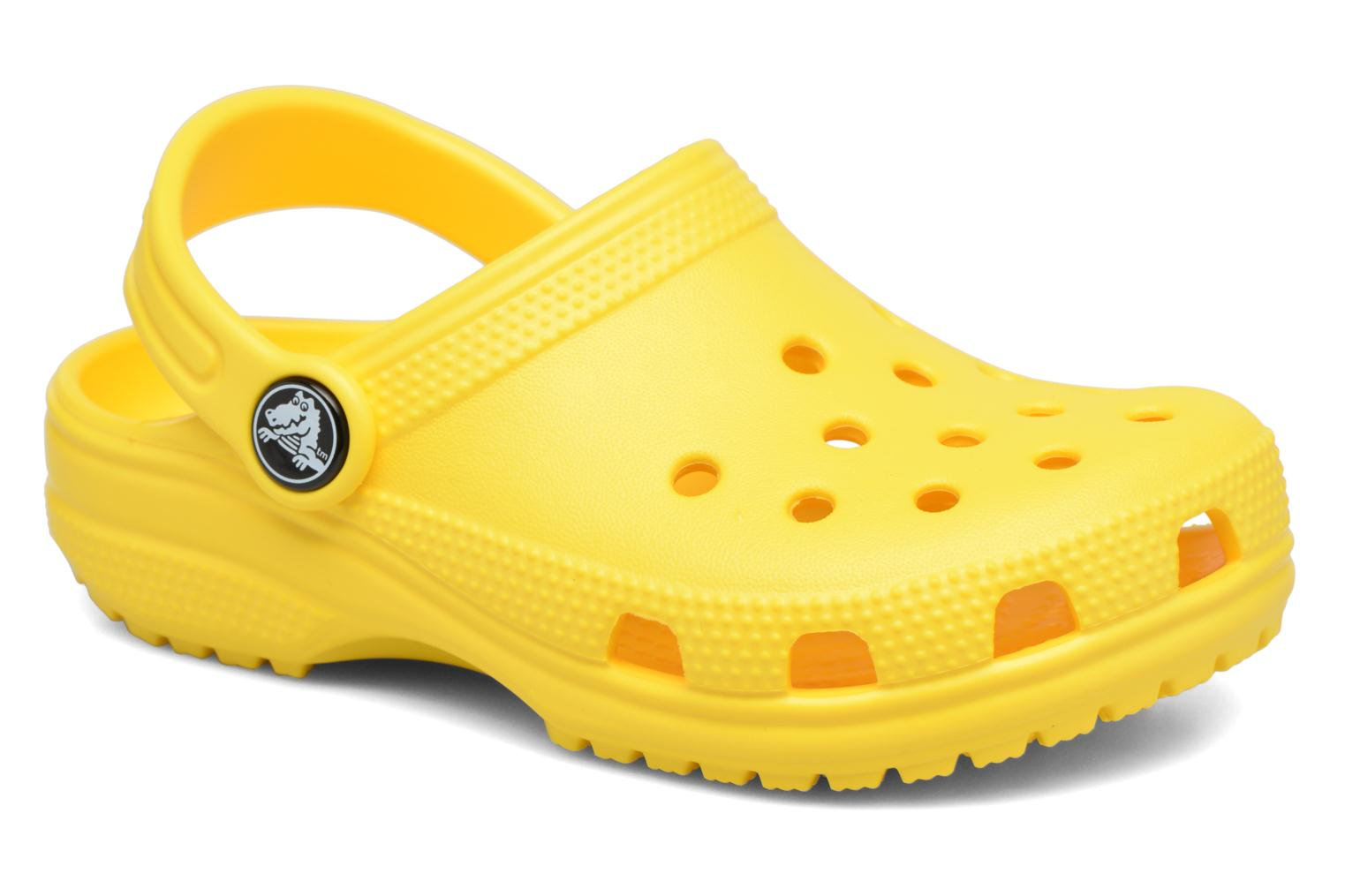 Sandals Crocs Kids Cayman Yellow detailed view/ Pair view