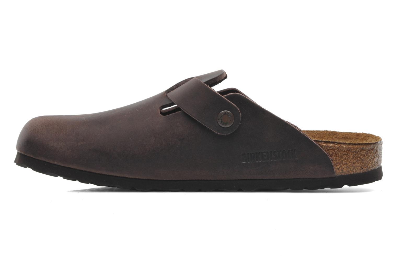 Sandali e scarpe aperte Birkenstock Boston Cuir M Marrone immagine frontale