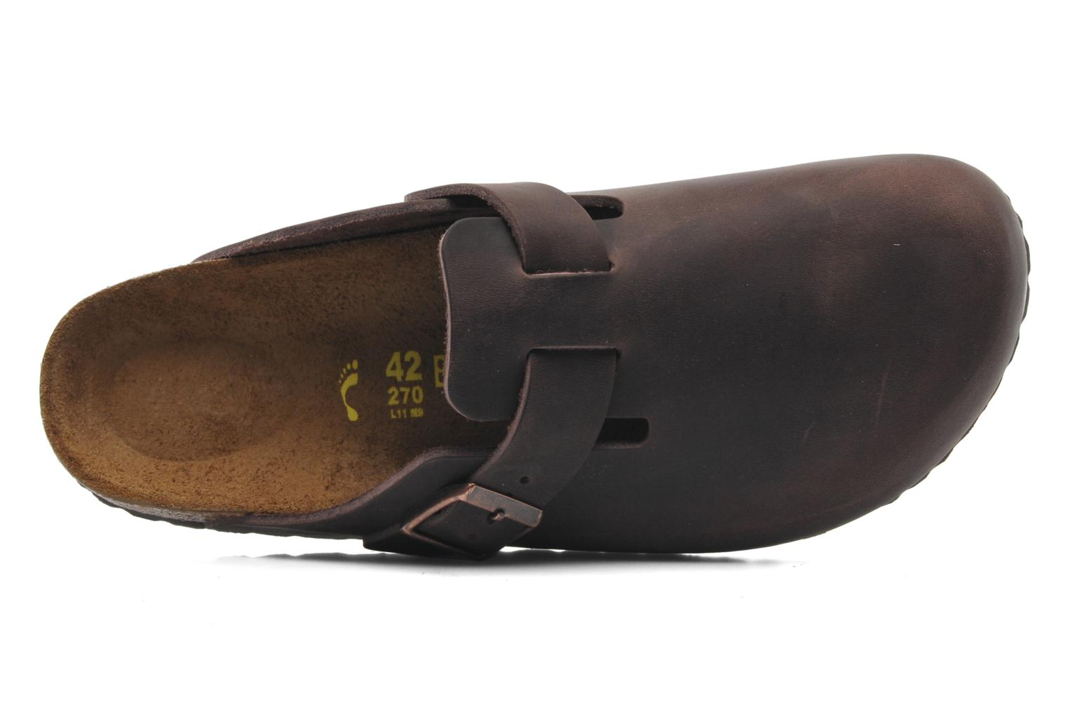 Sandals Birkenstock Boston Cuir M Brown view from the left