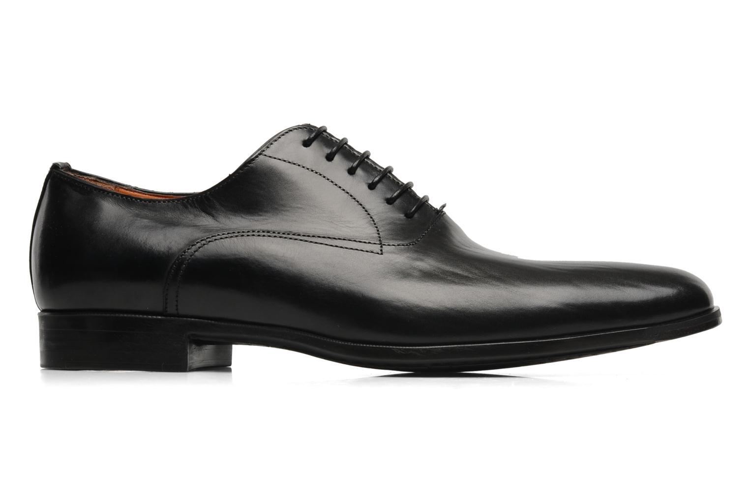Zapatos con cordones Santoni William 07413 Negro vistra trasera
