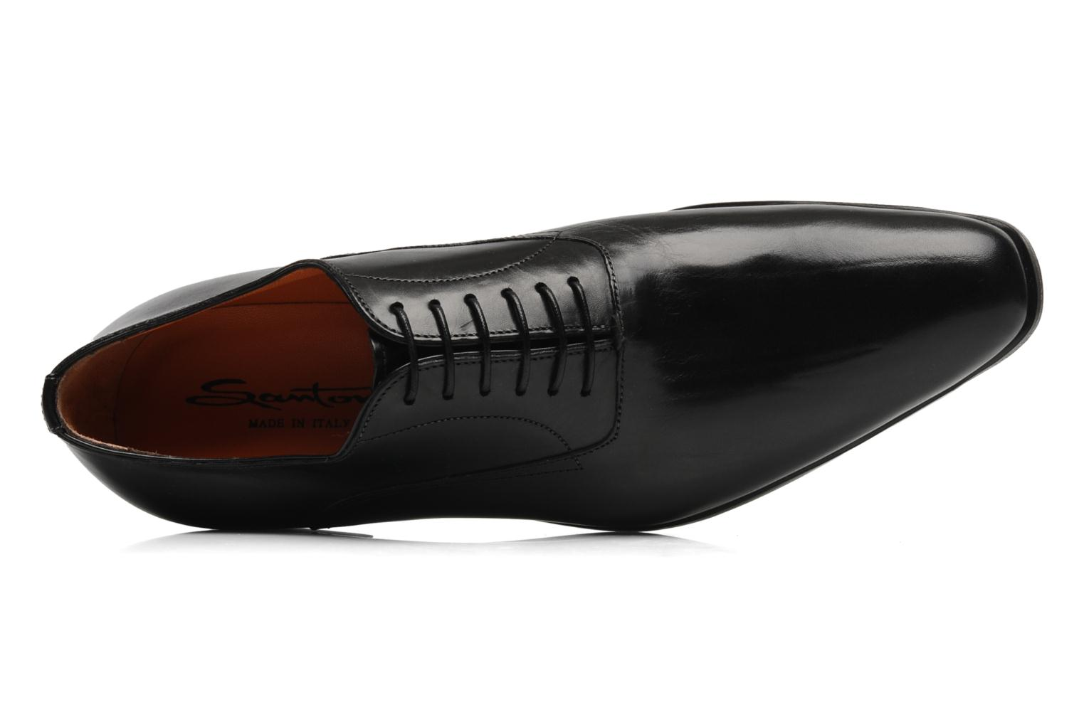 Lace-up shoes Santoni William 07413 Black view from the left