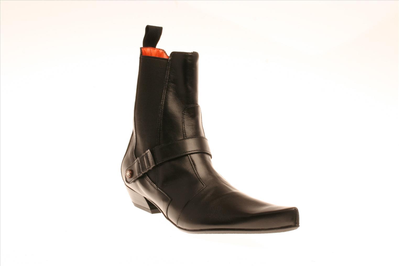 Boots en enkellaarsjes Stéphane Gontard Sabba Zwart detail