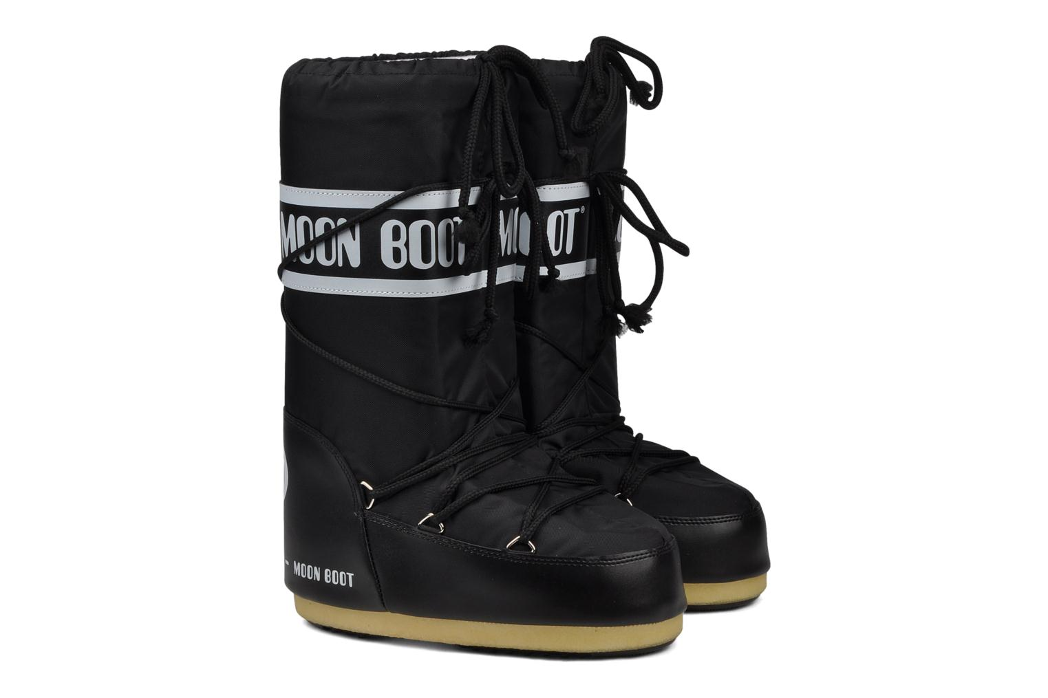 Sport shoes Moon Boot Moon Boot Nylon Black 3/4 view