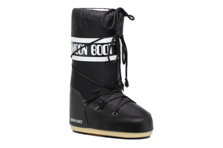 Sportssko Moon Boot Moon Boot Nylon Sort detaljeret billede af skoene
