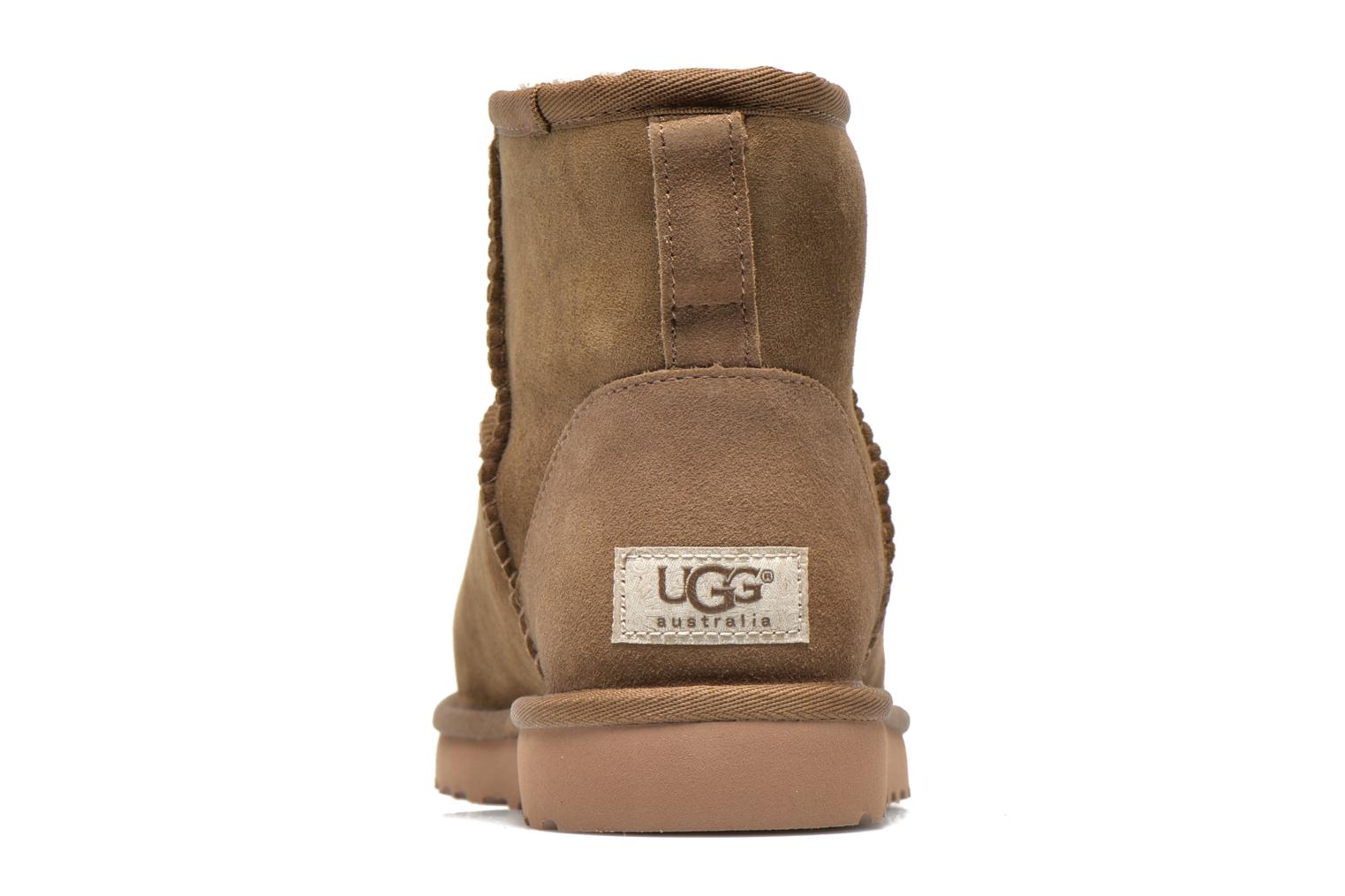 Ankle boots UGG Classic Mini Beige view from the right
