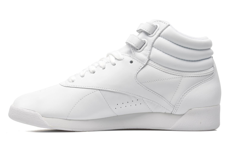 Sneaker Reebok Freestyle Hi weiß ansicht von vorne