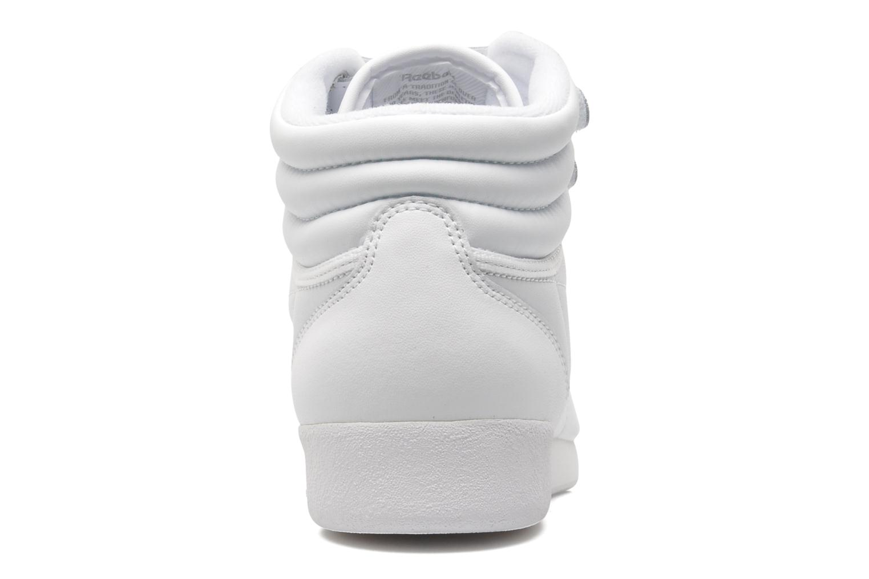 Baskets Reebok Freestyle Hi Blanc vue droite