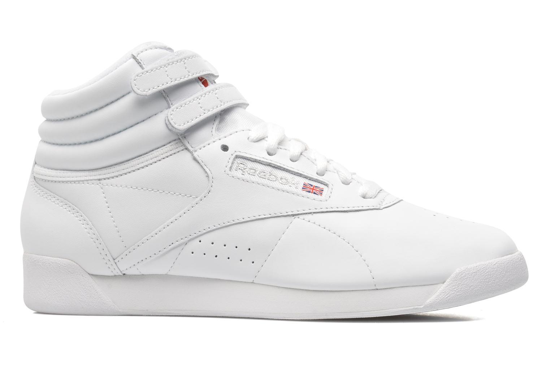 Sneaker Reebok Freestyle Hi weiß ansicht von hinten