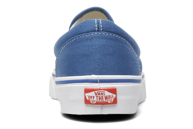 Baskets Vans Classic Slip On W Bleu vue droite