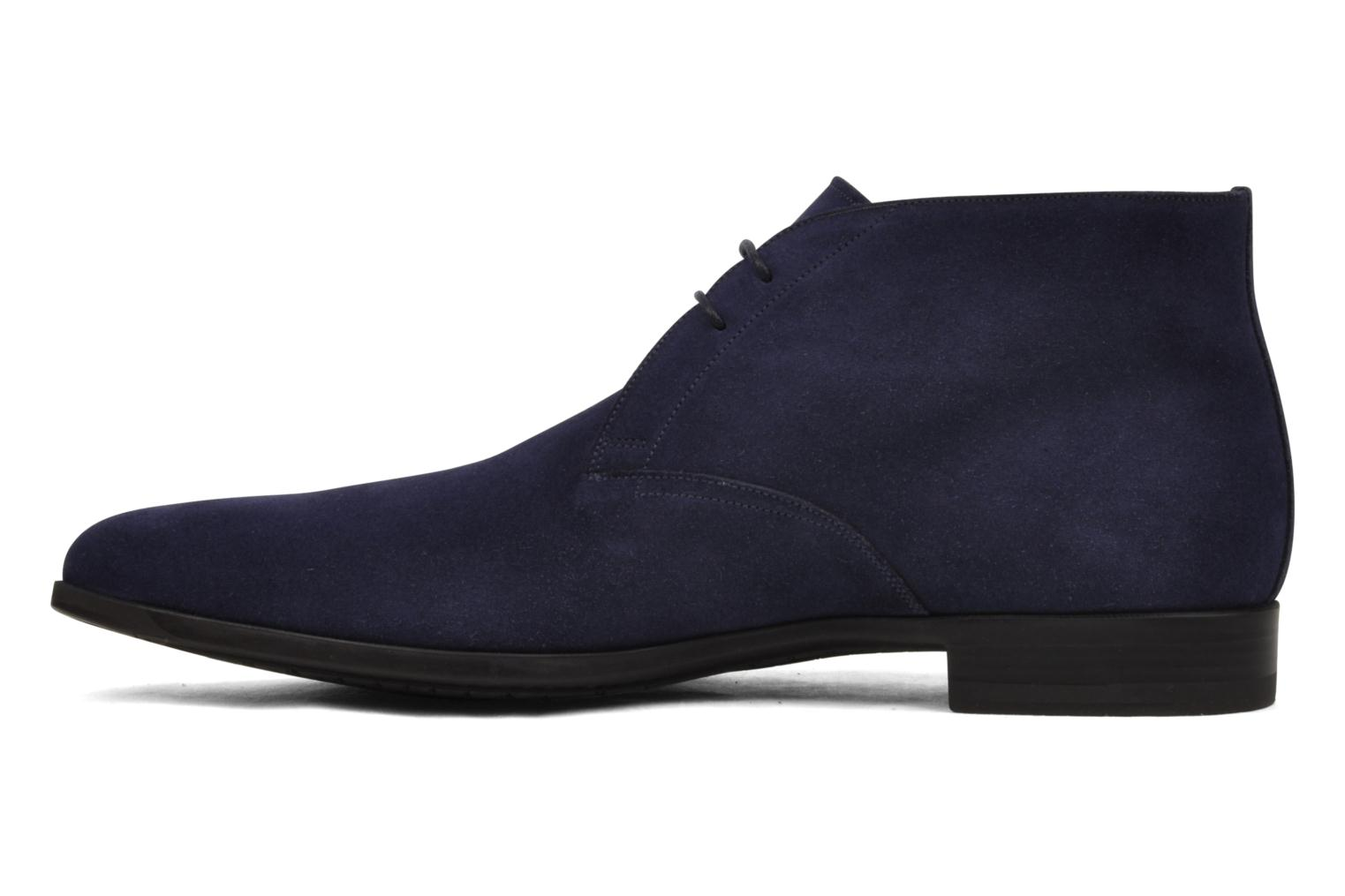 Chaussures à lacets Santoni William 7416 Bleu vue face