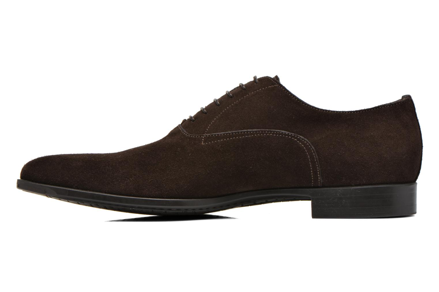 Chaussures à lacets Santoni William 7413 Marron vue face