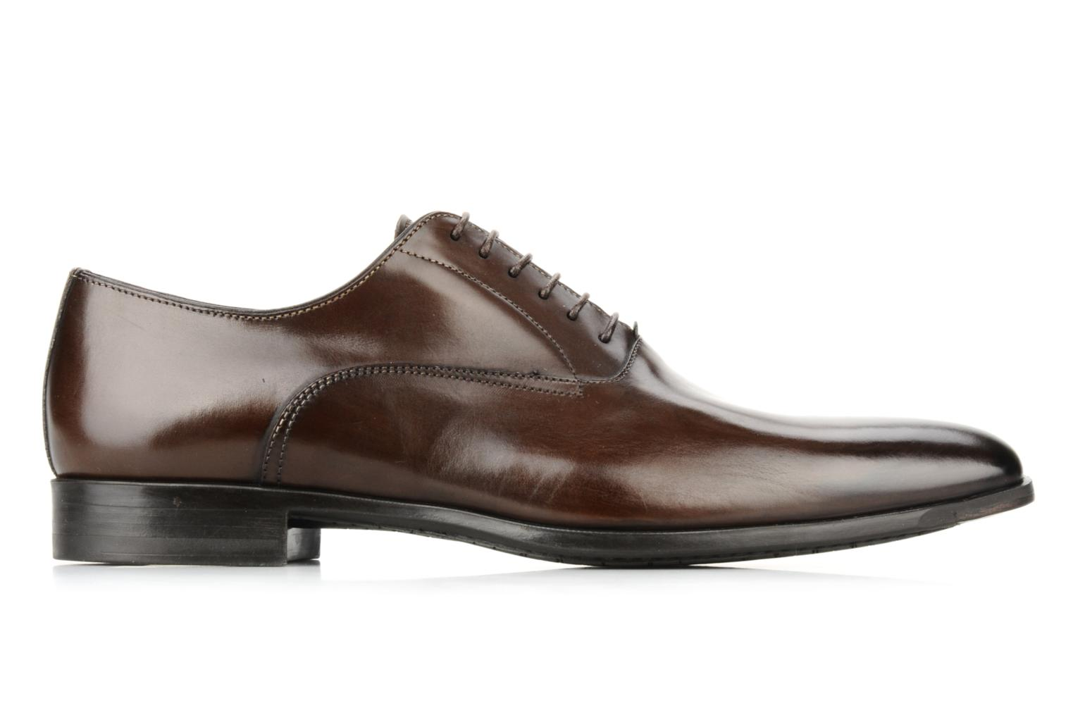 Lace-up shoes Santoni William 7413 Brown back view