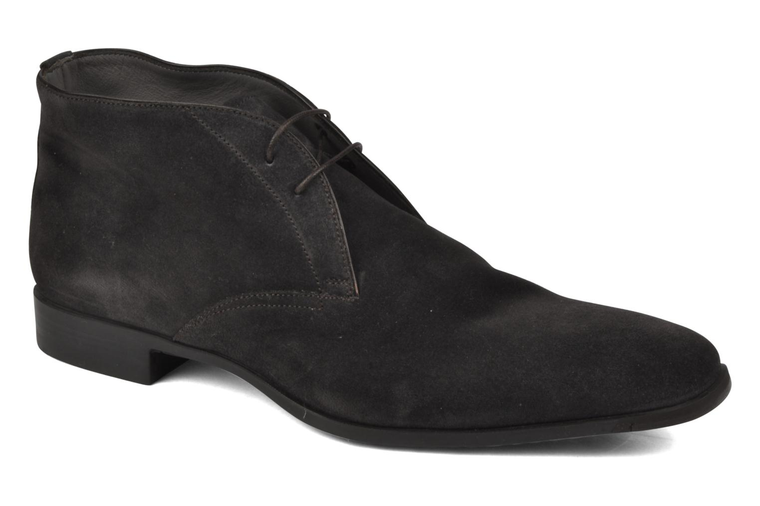 Ankle boots Santoni William 7416 Grey detailed view/ Pair view