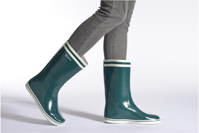 Bottines et boots Aigle Malouine Bleu vue bas / vue portée sac