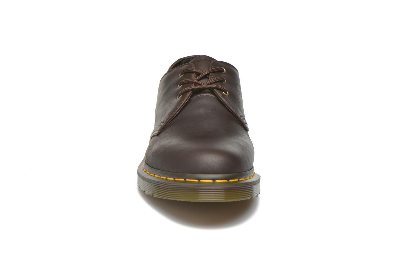 Chaussures à lacets Dr. Martens 1461 Marron vue portées chaussures