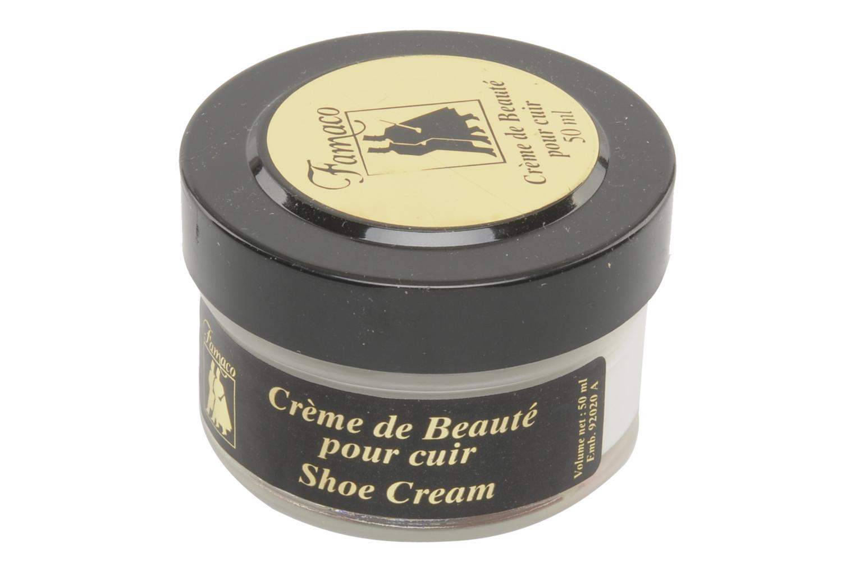 Produits d'entretien Famaco Cirage crème de beauté cuir 50 Ml Blanc vue haut
