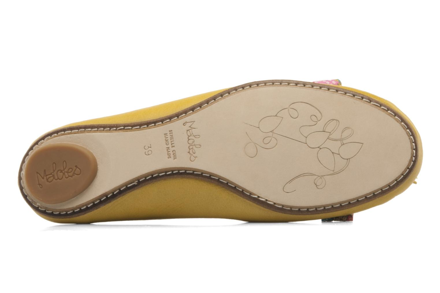 Ballet pumps Maloles Zoe Yellow view from above