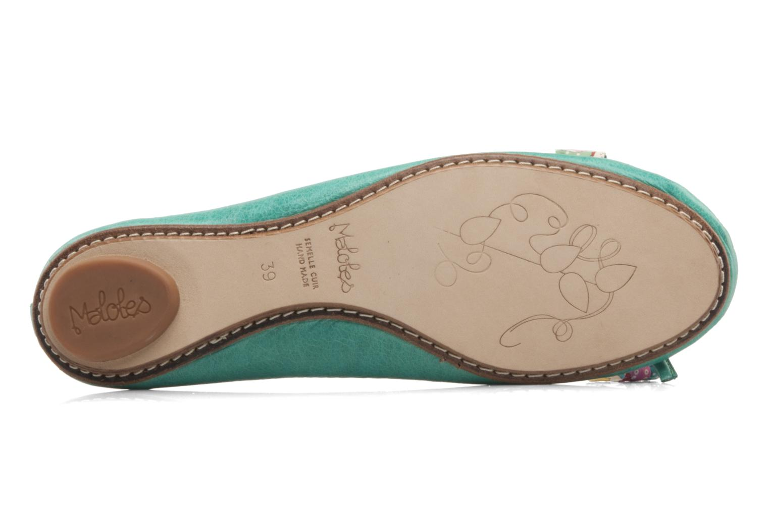 Ballet pumps Maloles Zoe Green view from above