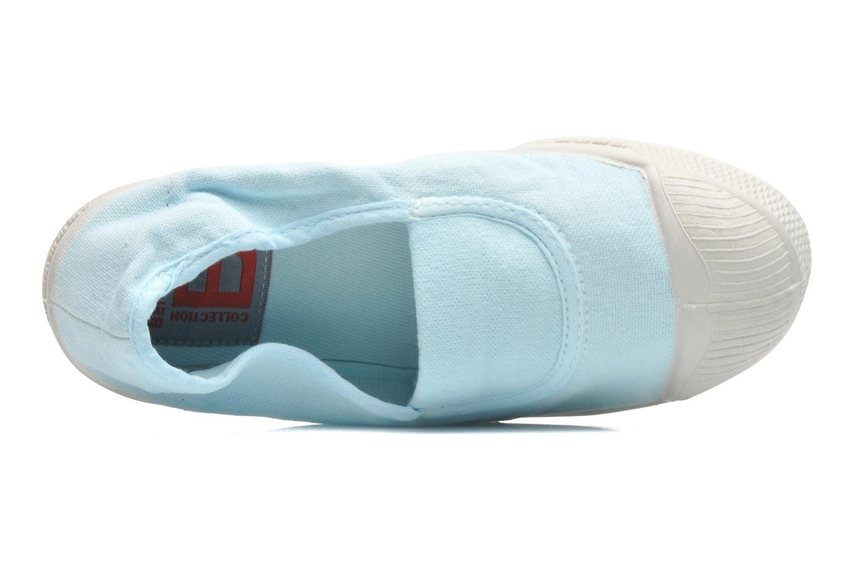 Ballerines Bensimon Tennis Elastique E Bleu vue gauche