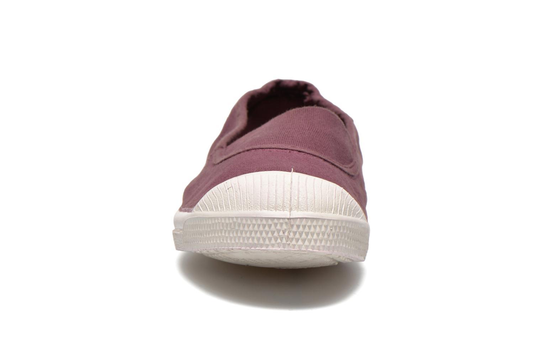 Ballerines Bensimon Tennis Elastique E Bordeaux vue portées chaussures