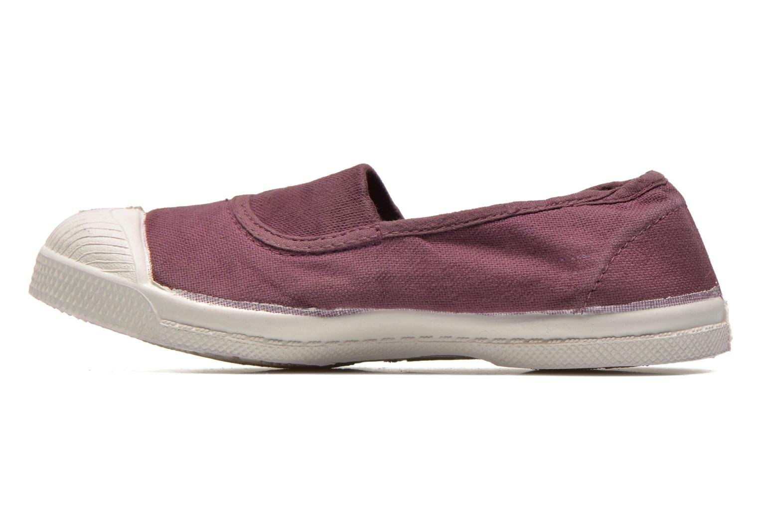 Ballerines Bensimon Tennis Elastique E Bordeaux vue face