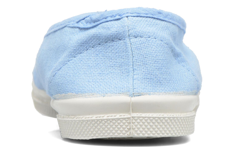 Ballerines Bensimon Tennis Elastique E Bleu vue droite