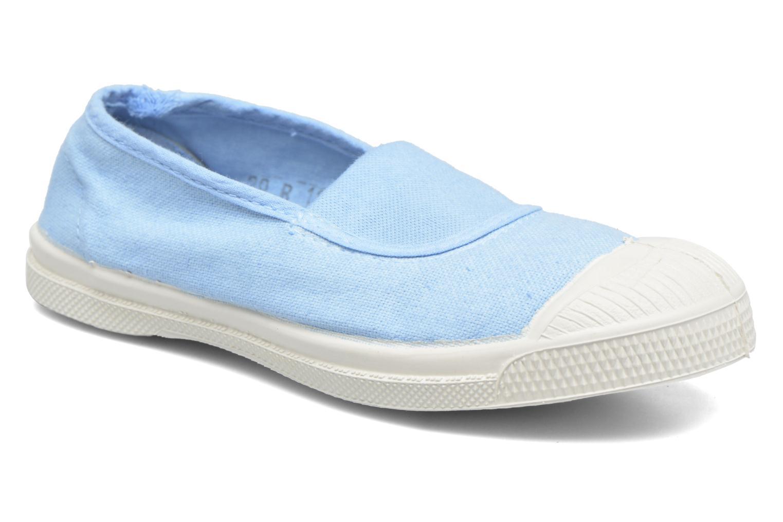 Ballet pumps Bensimon Tennis Elastique E Blue detailed view/ Pair view