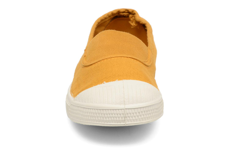 Ballerines Bensimon Tennis Elastique E Jaune vue portées chaussures