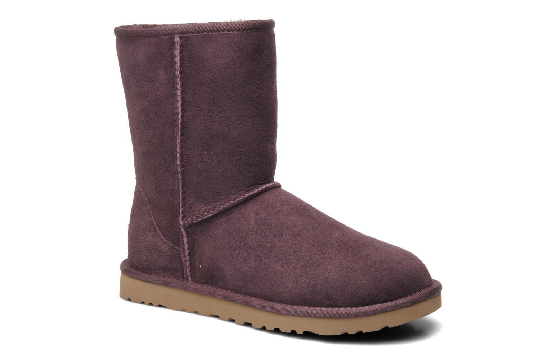 Bottines et boots UGG Classic Short Violet vue détail/paire