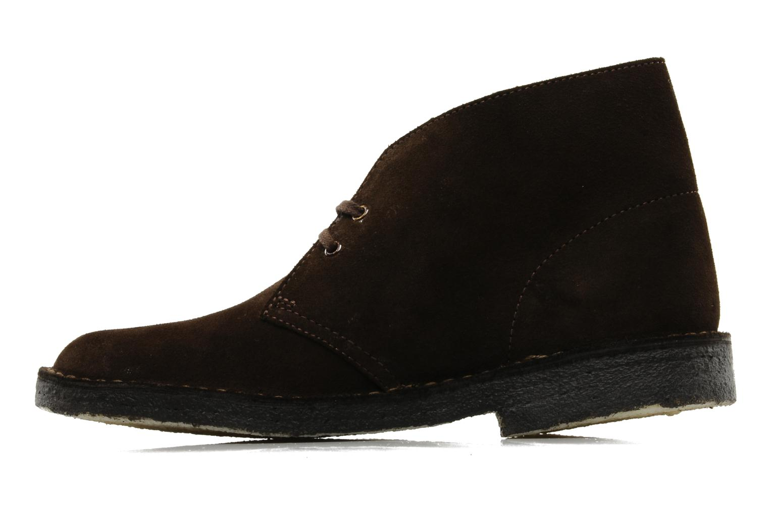 Lace-up shoes Clarks Desert Boot Brown front view