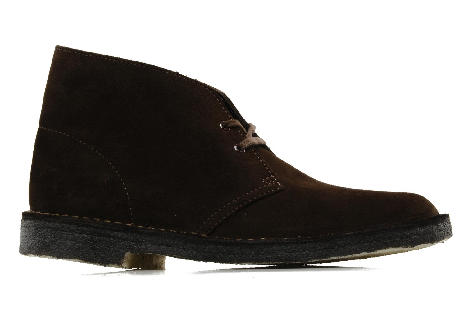 Lace-up shoes Clarks Desert Boot Brown back view