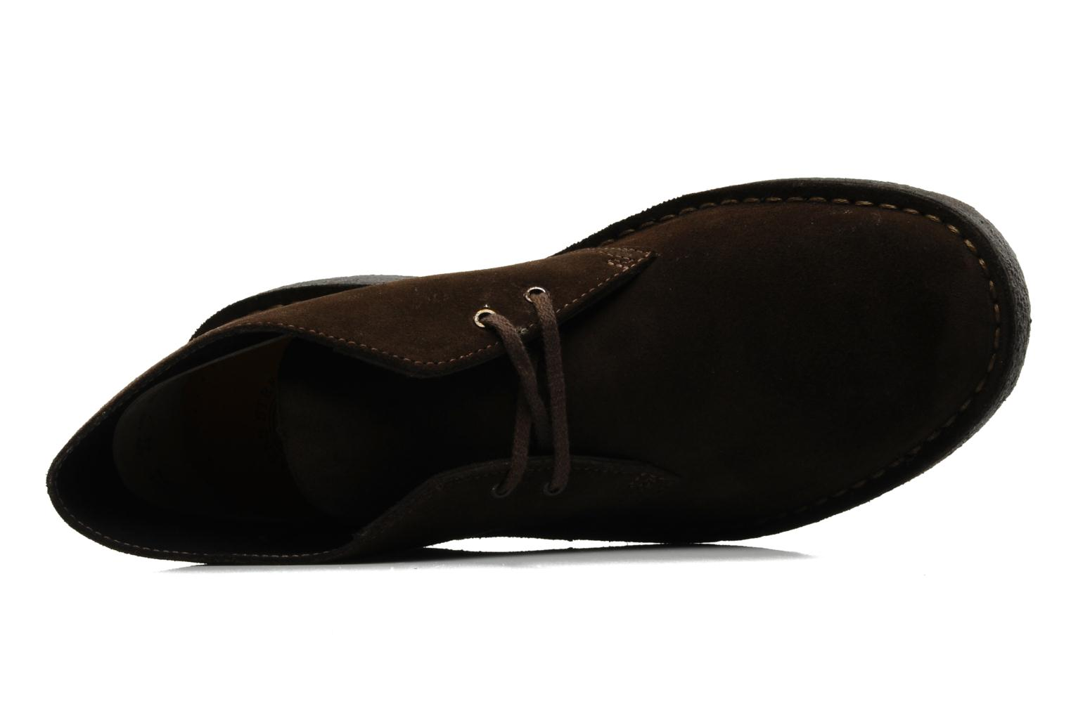 Lace-up shoes Clarks Desert Boot Brown view from the left