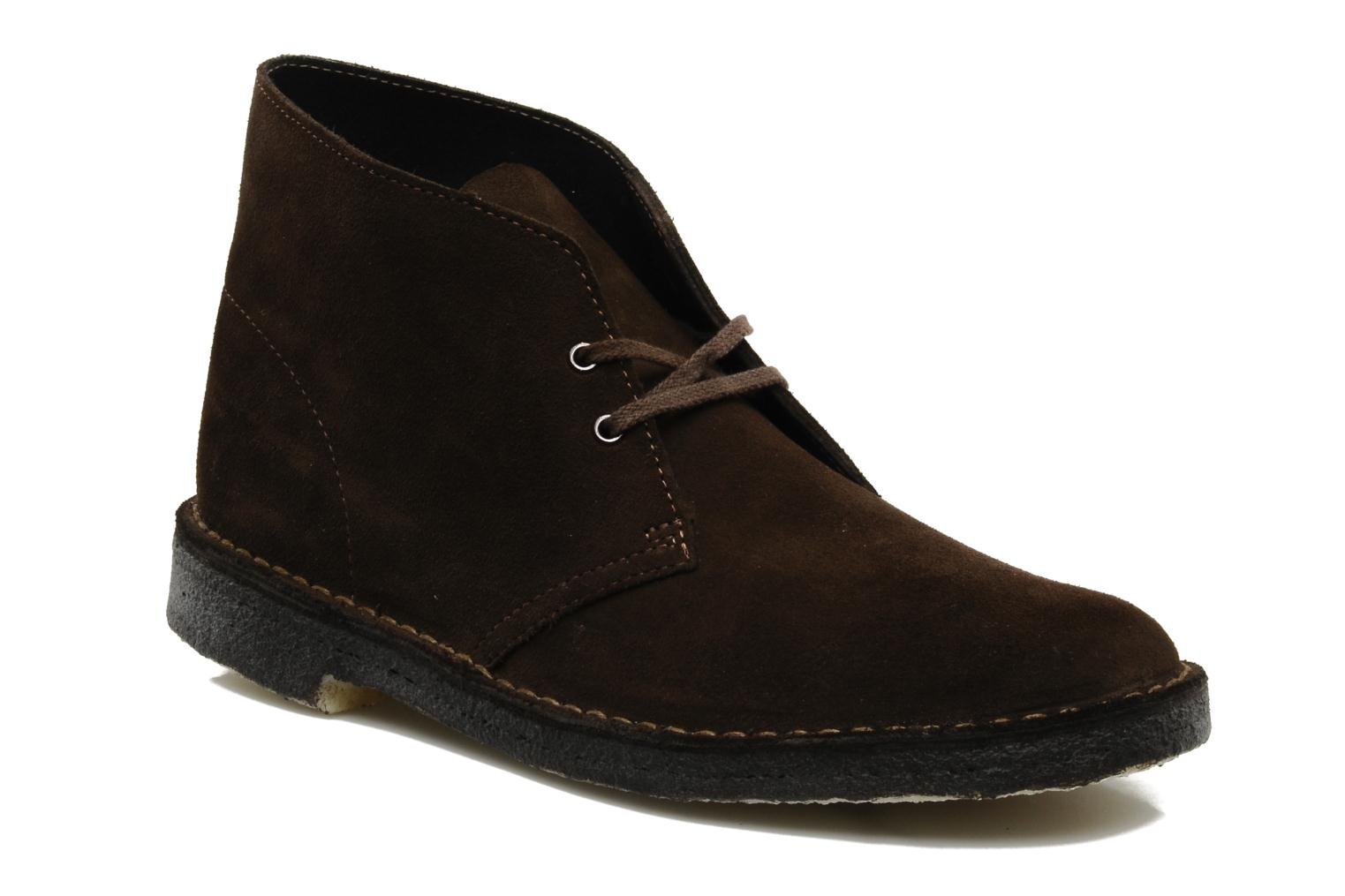 Lace-up shoes Clarks Desert Boot Brown detailed view/ Pair view