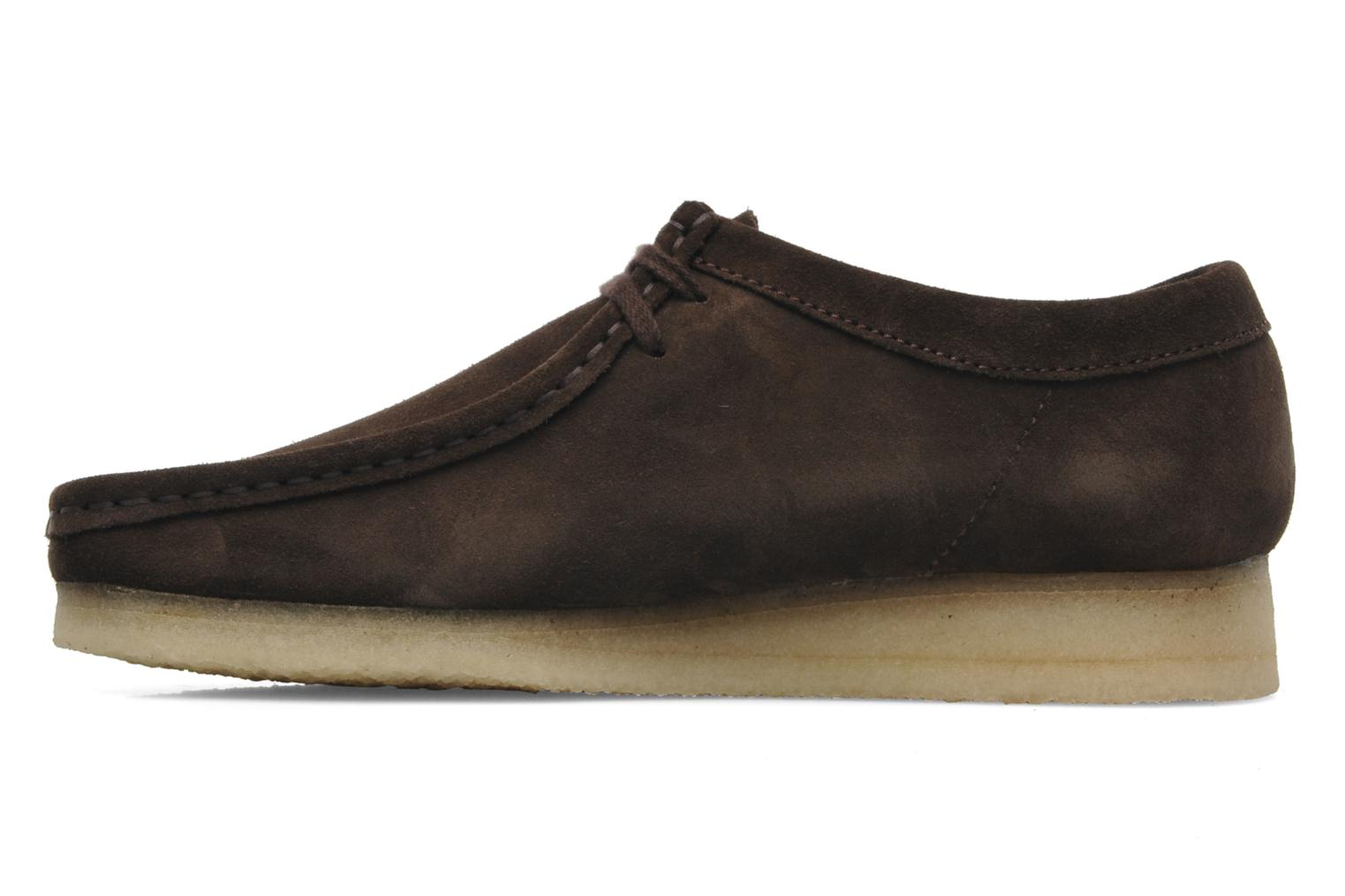 Chaussures à lacets Clarks Originals Wallabee M Marron vue face