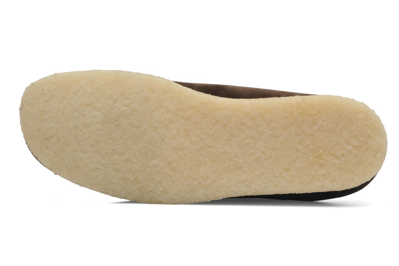 Chaussures à lacets Clarks Originals Wallabee M Marron vue haut