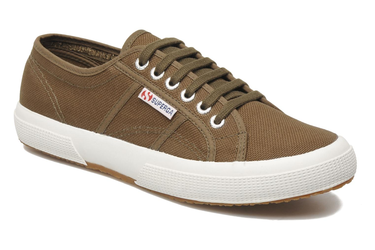 Trainers Superga 2750 Cotu M Green detailed view/ Pair view