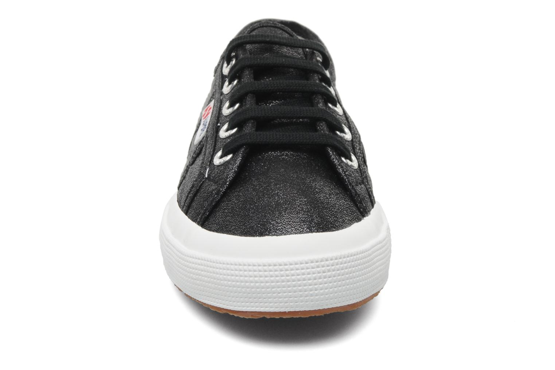 Sneakers Superga 2750 Lame W Nero modello indossato